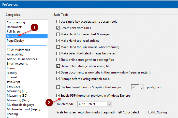 enable thumbnail preview for pdf files in windows 10 file explorer