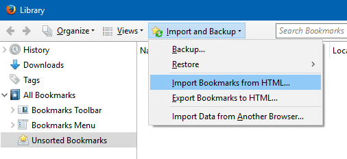 export Edge favorites bookmarks to Chrome and Firefox step6