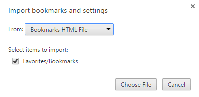 export Edge favorites bookmarks to Chrome and Firefox step9