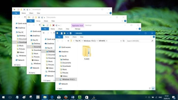 open multiple folders at once in Windows 10