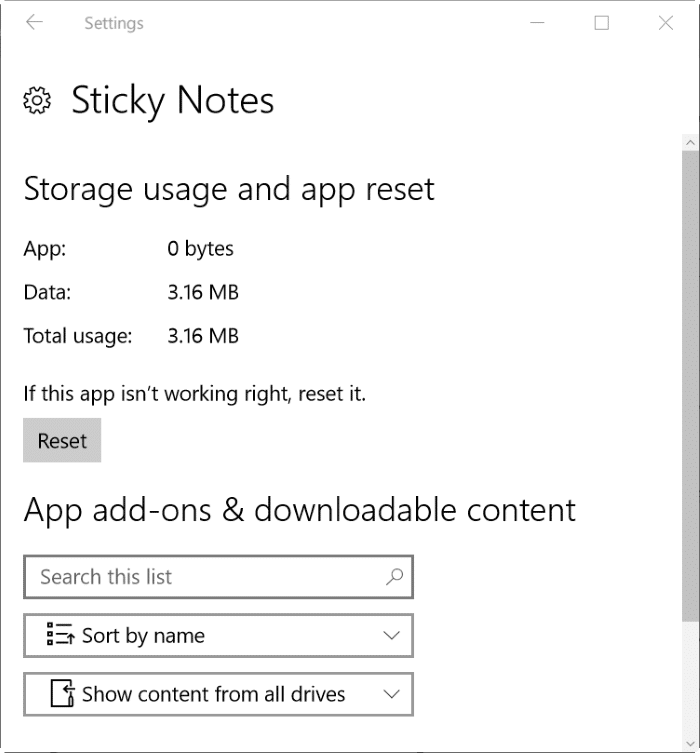 reinstall sticky notes in Windows 10 step2