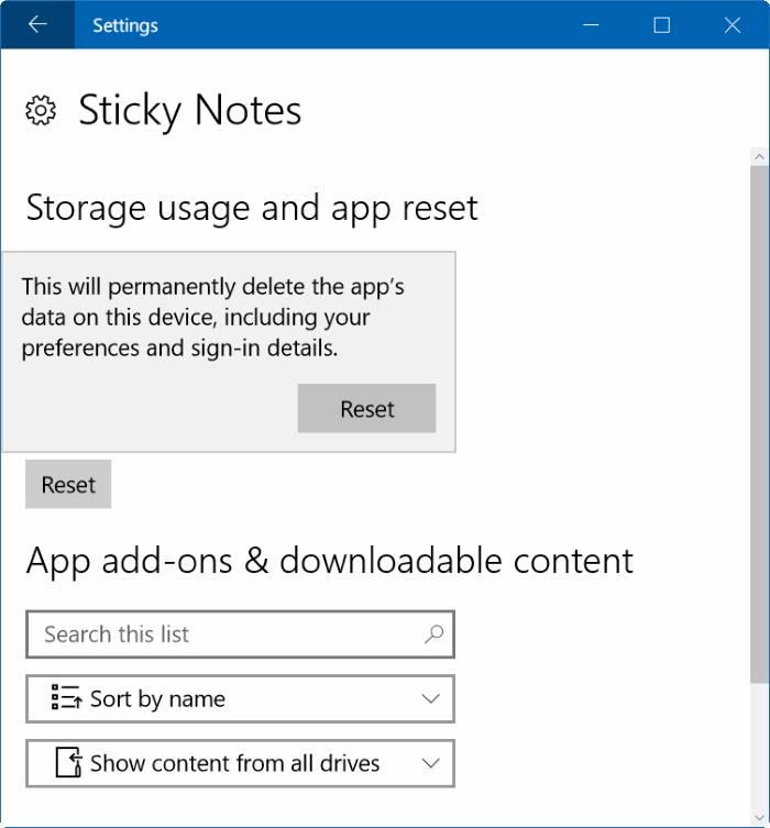 How To Reset Or Reinstall Sticky Notes In Windows 10