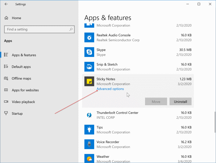 reset sticky notes in Windows 10 pic1