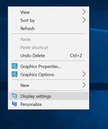 Set Different Resolutions For Each Display In Windows 10