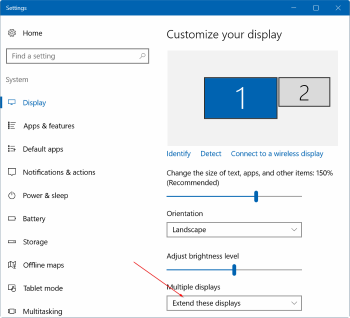 set different wallpapers for multiple monitors in Windows 10 step7.1