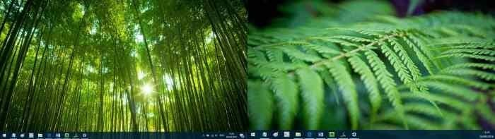 set different wallpapers for multiple monitors in Windows 10