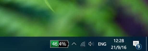 Show Battery Percentage On Taskbar In Windows 10
