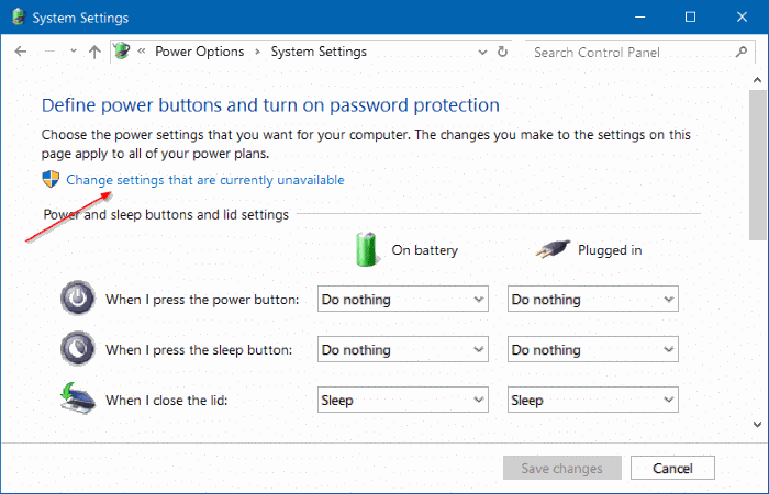 stop Windows 10 from asking for password after sleep step4