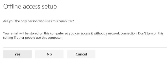 Sử dụng truy cập ngoại tuyến Outlook.com pic3