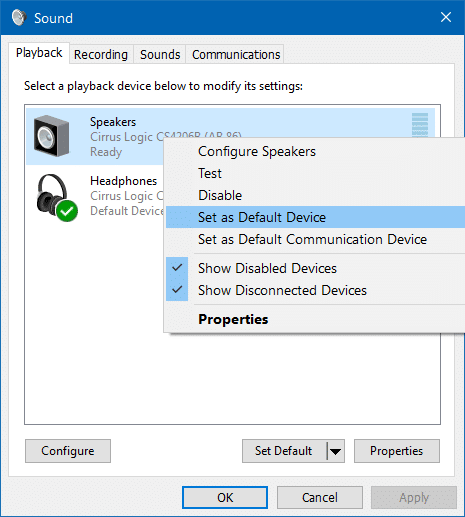 Use Speakers & Headphones At The Same Time In Windows 10