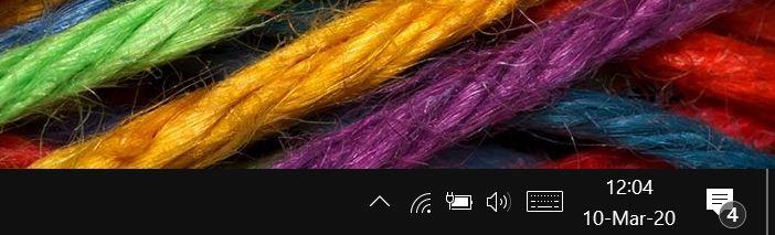 volume icon missing from Windows 10 taskbar