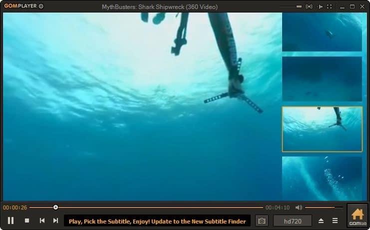 watch 360 degree video on Windows 10 pic4
