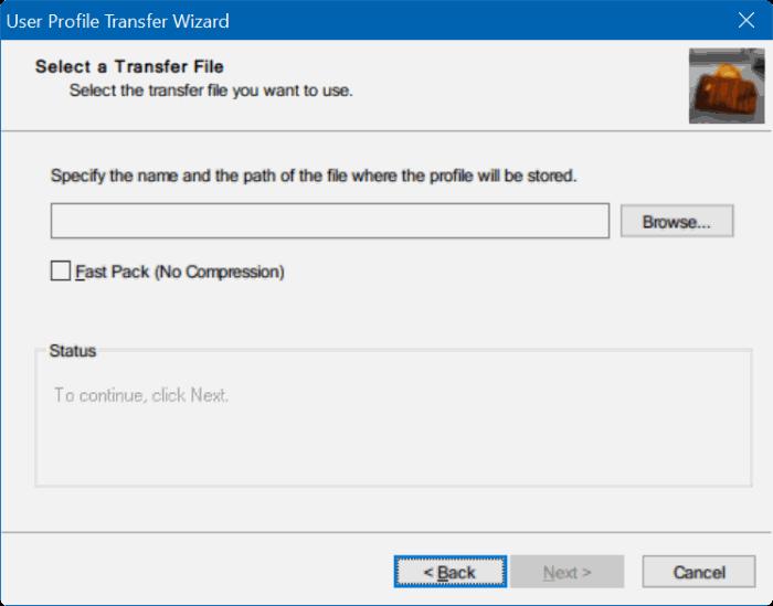 Transfer user profiles in Windows 10 step3