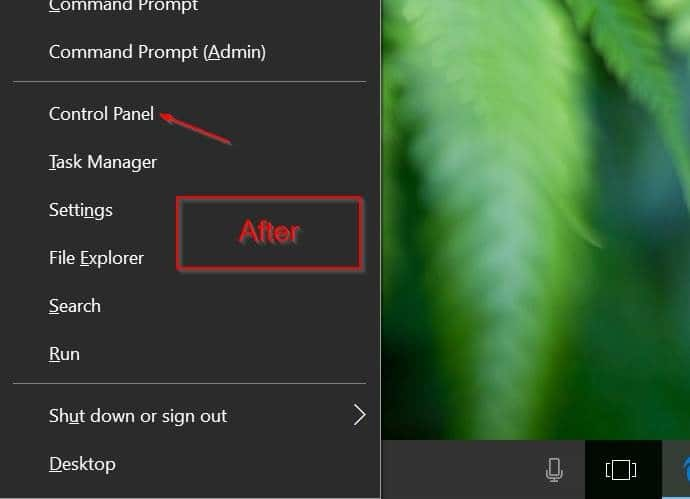 add control panel to win x power user menu windows 10 pic2