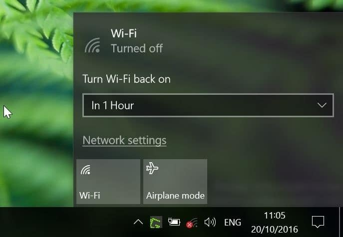 automatically turn on Wi Fi Windows 10 pic2