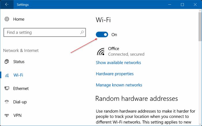 automatically turn on Wi Fi Windows 10 pic3