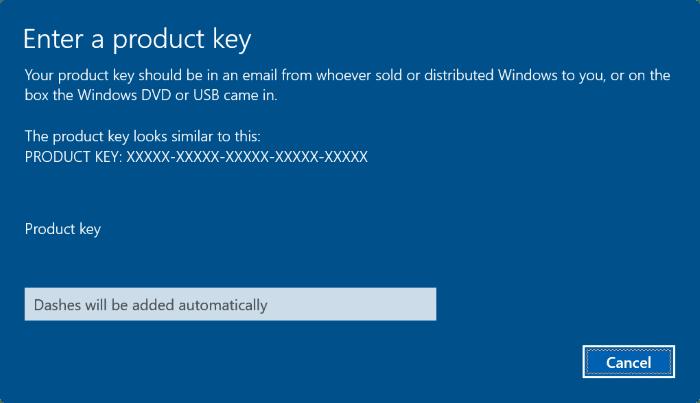 change Windows 10 product key pic8