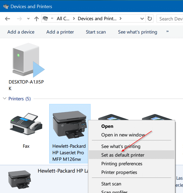 how to change the default