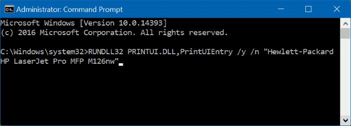 how to set printer as default windows 10