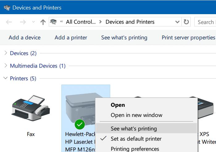 clear print queue in Windows 10 pic5