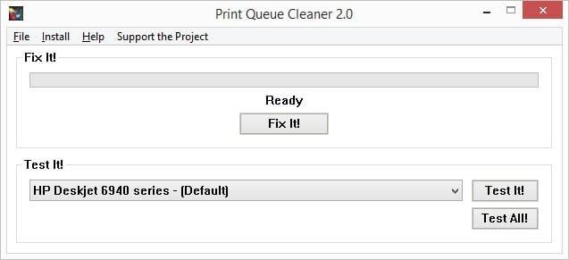 clear print queue