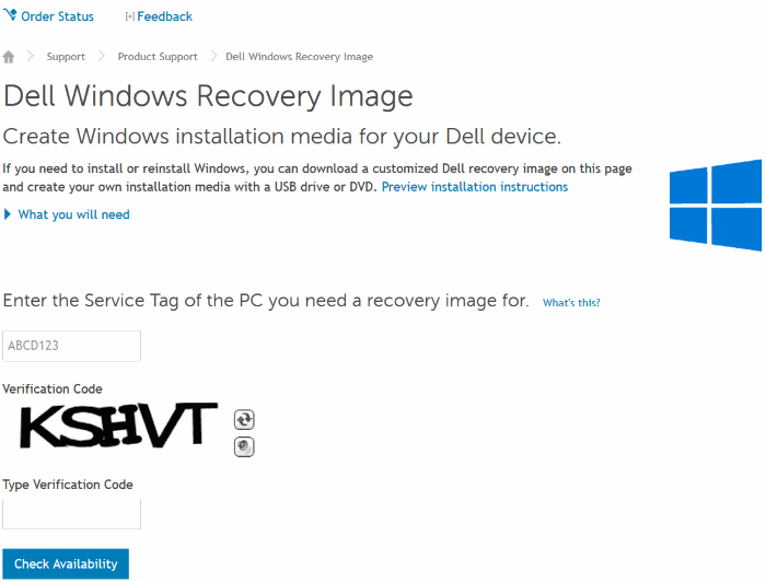 download dell Windows 10 recovery image01