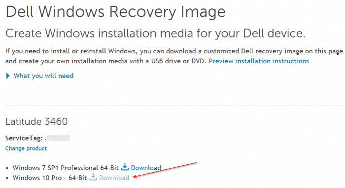 download dell Windows 10 recovery image1