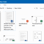 Enable File Explorer Thumbnail Preview For Word, Excel & PowerPoint Docs