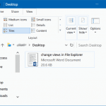 Keyboard Shortcuts To Change File Explorer View In Windows 10