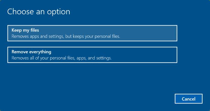 reset Windows 10 PC pic4