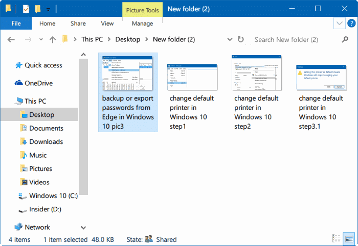 start slideshow right from File Explorer in Windows 10 pic01