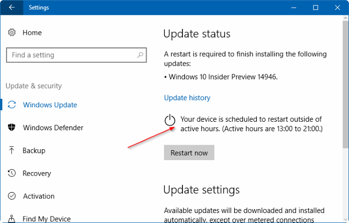 stop windows 10 from restarting to install updates pic1
