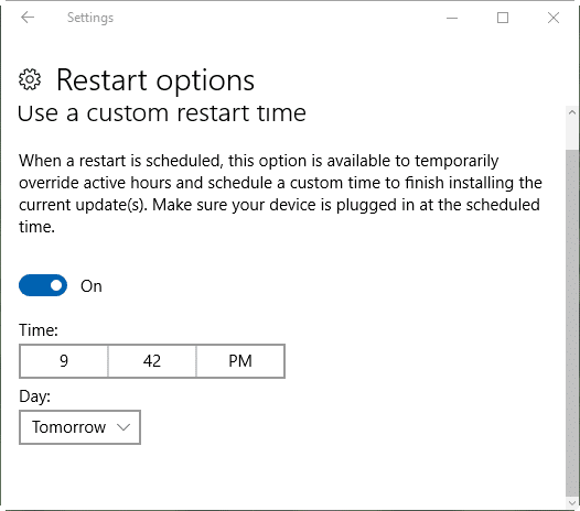 stop windows 10 from restarting to install updates pic2