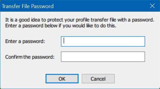 transfer user profiles in Windows 10 step4