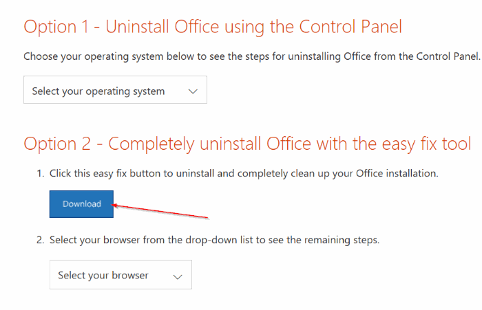 uninstall Microsoft Office 365 or office 2016 from Windows 10 pic01