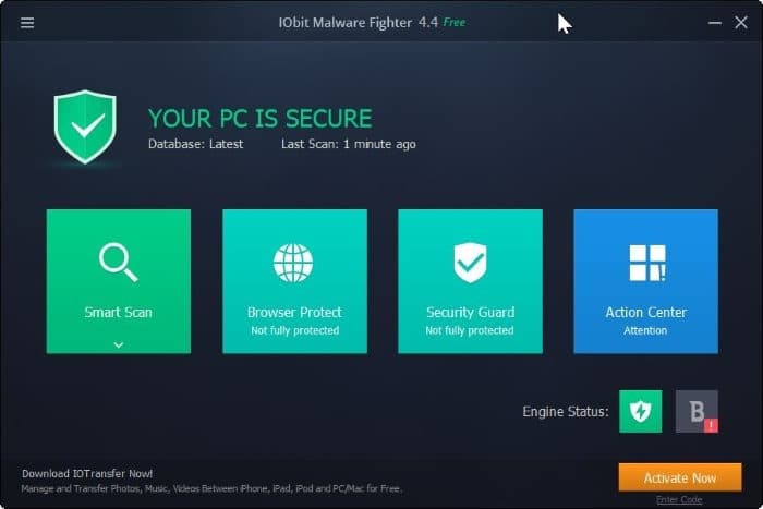 Download IObit Malware Fighter Free For Windows 10