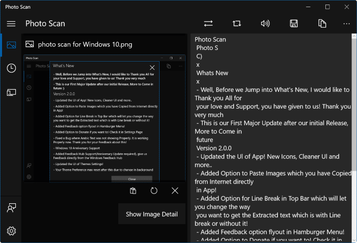 Photo Scan App For Windows 10: Extract Text From Images