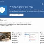 Download Windows Defender Hub App For Windows 10