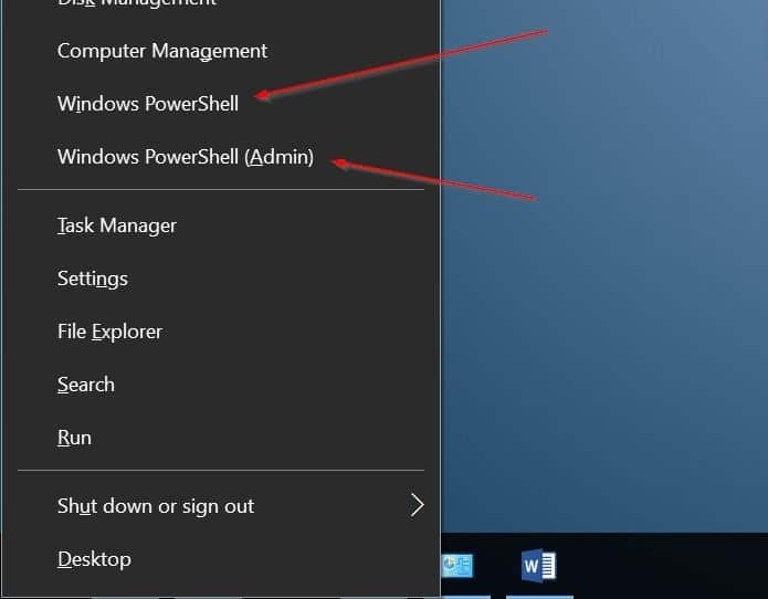 add command prompt to win x power user menu Windows 10 pic1