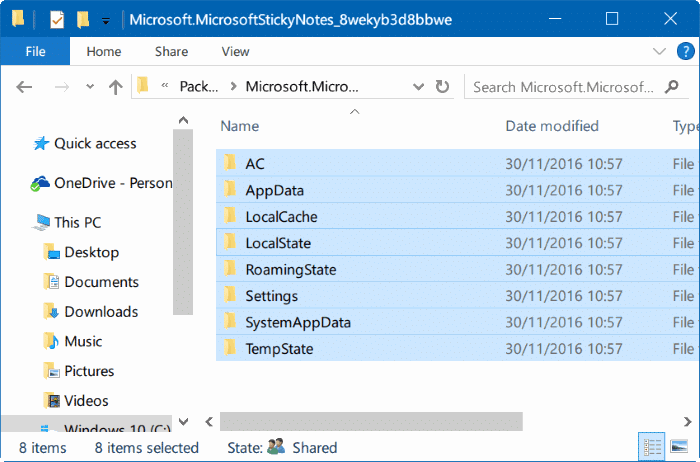 Sao lưu và khôi phục lại các ghi chú dính trong Windows 10 pic01
