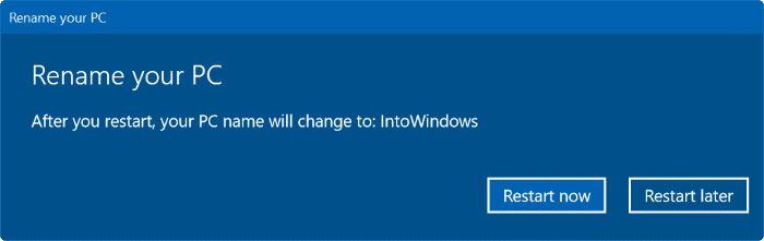 change computer name in Windows 10 pic5