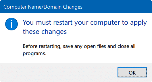 change computer name in Windows 10 pic9