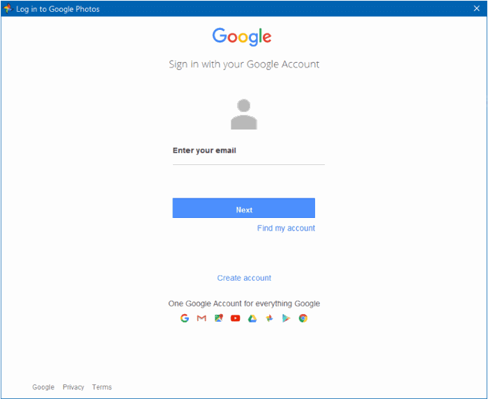 download google photos app for Windows 10 pic1