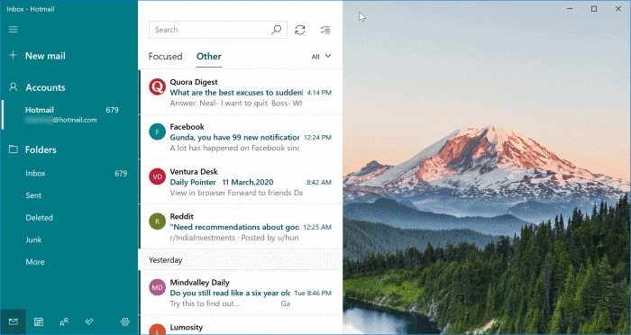 download mail app for Windows 10 pic1