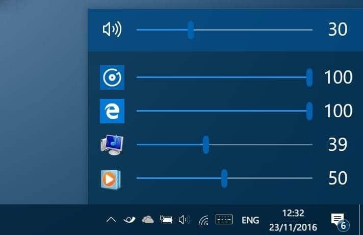 eartrumpet adjust volume levels for apps in Windows 10