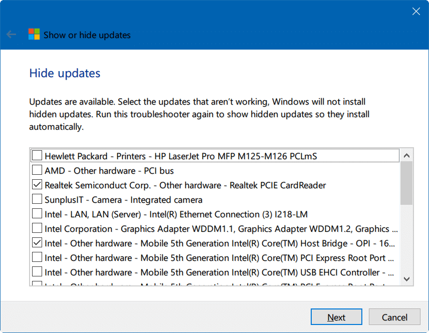 hide Windows updates Windows 10 pic2