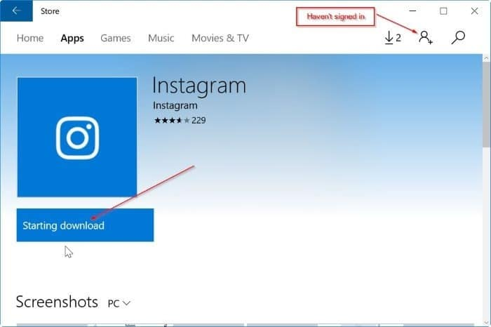 install apps from Windows 10 store without microsoft account pic1