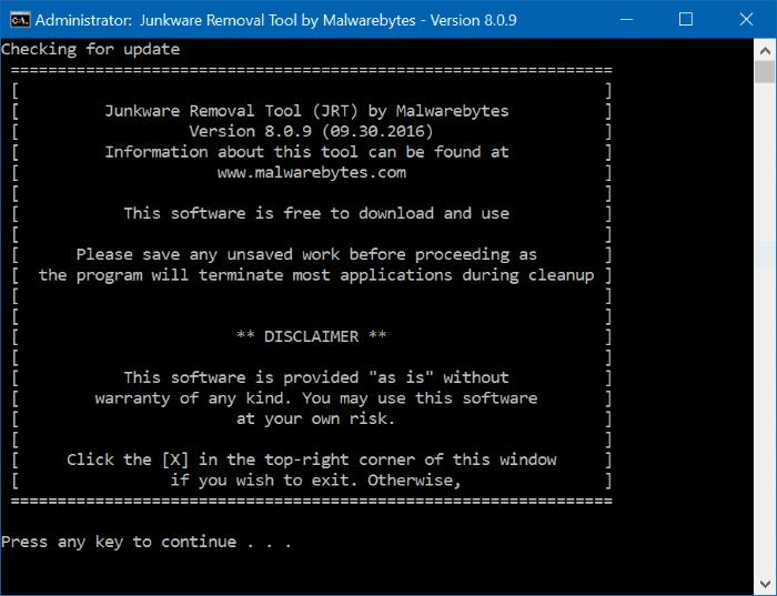 Download Malwarebytes Junkware Removal Tool For Windows 10
