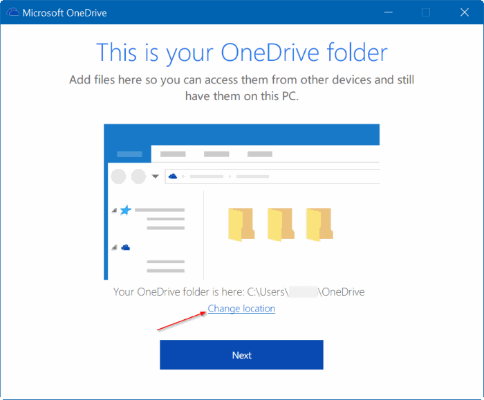 move onedrive folder in Windows 10 step13