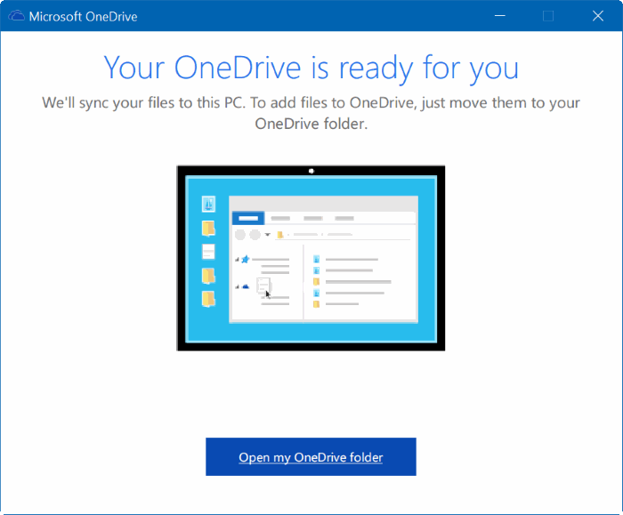 move onedrive folder in Windows 10 step18